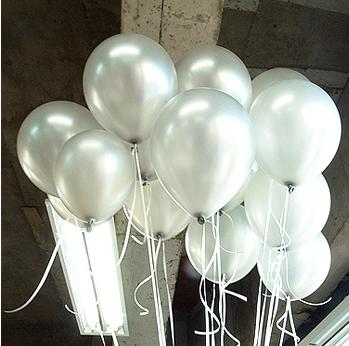 Silver Balloons 1.5g100pcs/Lot Metallic Latex Helium Inflatable Thickening Pearl Balloons Wedding Decorations Ballon Gray Ball(China (Mainland))