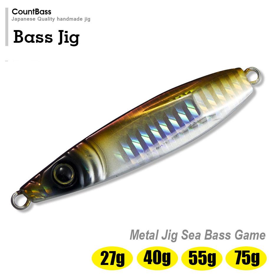 1pc Countbass Jigging Lures, 27g 55g 75g Saltwater Metal Lead Fishing Jig, Bass Jigs, Free shipping(China (Mainland))