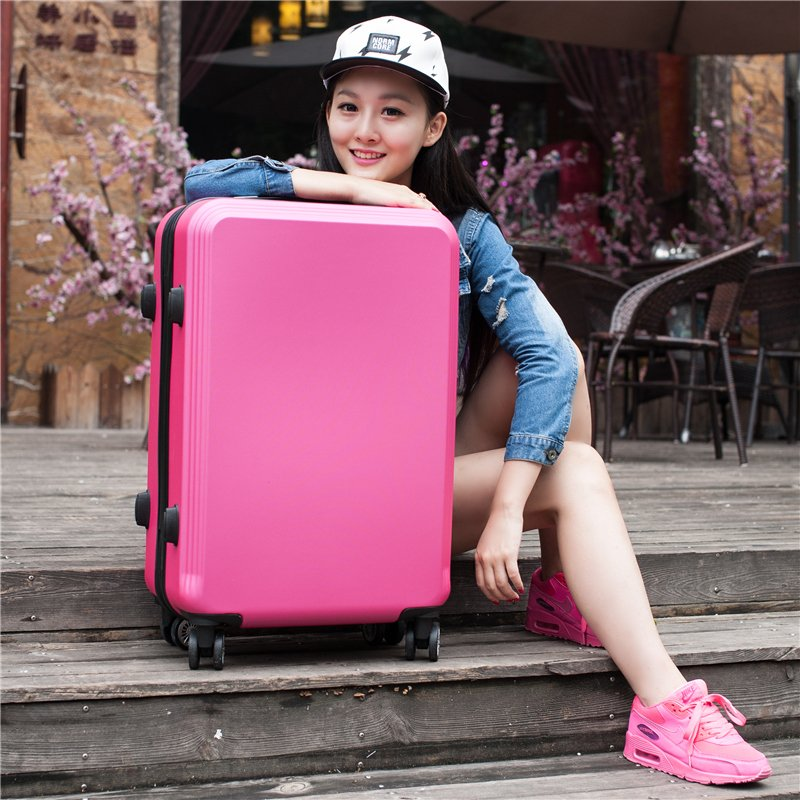 """20""""24 inches girl trolley case ABS+PC students women lovely Travel waterproof luggage rolling suitcase men business Boarding box(China (Mainland))"""