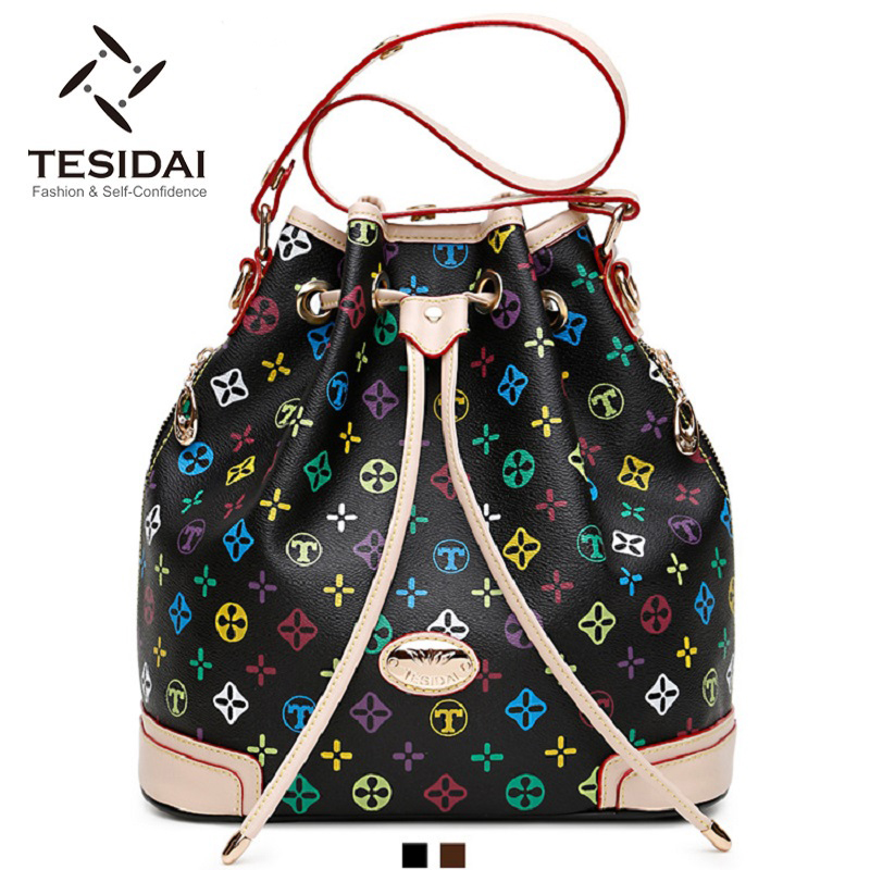 2016 women shoulder bags designer handbags fashion printing Vintage bucket TDV015 - China Bags Mall Brand shop store