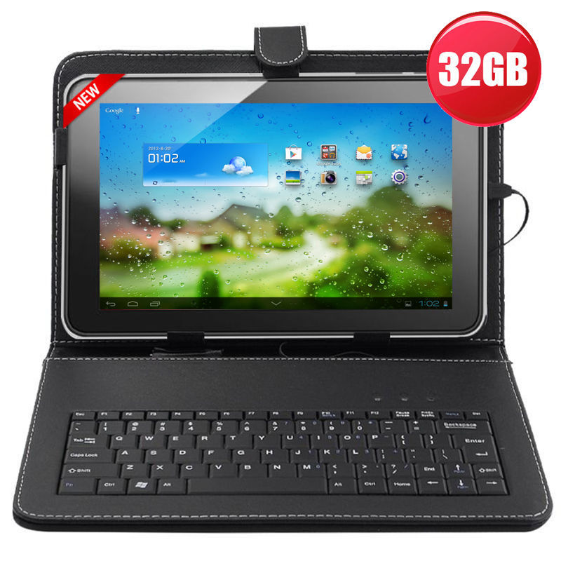 """10.1"""" Inch 32GB Allwinner A31S Google Android 4.4.2 Quad Core Tablet PC Bundle Keyboard cover(China (Mainland))"""