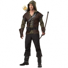 MENS Costume Fancy Dress Up Robin Hood Medieval  Size m-2xl  565(China (Mainland))