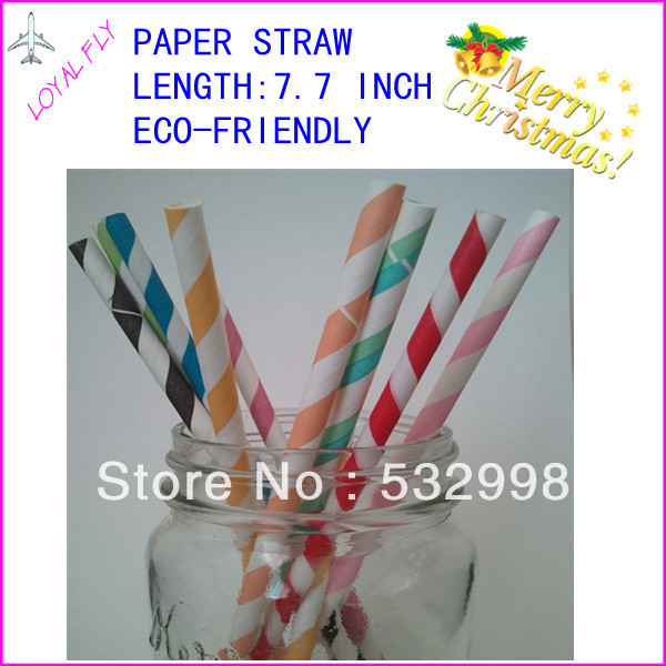 free shipping 200pcs/lot paper straws for party favor paper party drink straw you can choose 30 kind color(China (Mainland))