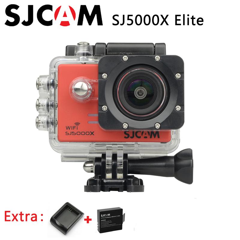 Original SJCAM SJ5000X Elite WiFi 4K 24fps HD Gyro 2.0 LCD NTK96660 Waterproof Sport Action Camera +Extra 1pcs battery+Charger(China (Mainland))