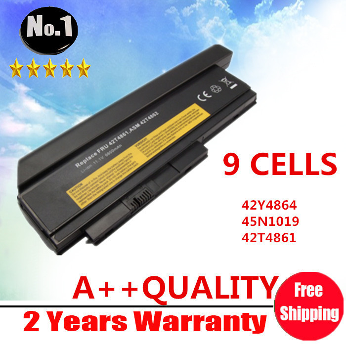 WHOLESALE NEW 9CELLS LAPTOP BATTERY FOR LENOVO ThinkPad X220 X220i Series 42Y4874 42T4901 42T4902 42Y4940 FREE SHIPPING(China (Mainland))