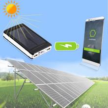 Солнечная 12000 мАч зарядное устройство мобильного зарядное устройство с двумя USB для смартфонов PDA MP3