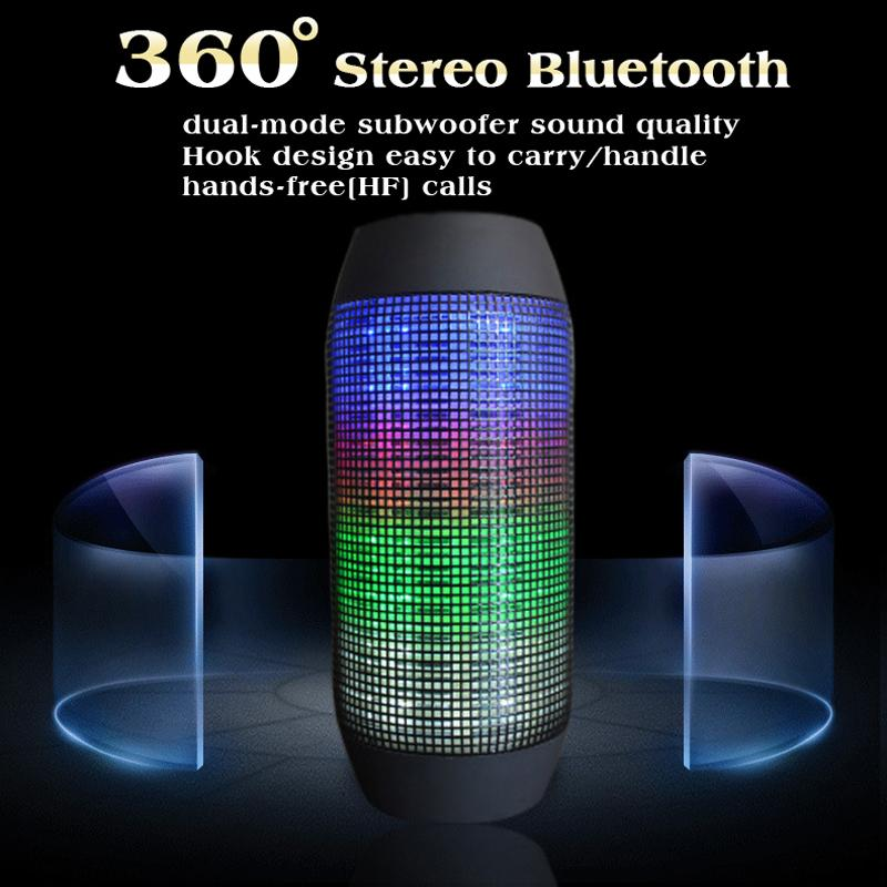 HQ Portable Wireless Stereo Altavoz Bluetooth Speaker With Colorful LED Lights Support TF Card Outdoor Caixa De Som<br><br>Aliexpress