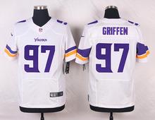 Minnesota Vikings #82 Kyle Rudolph Elite White and Purple Team Color free shipping(China (Mainland))