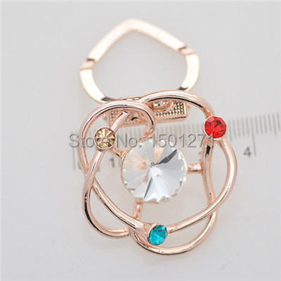 Chain.scarves buckle with two color high-grade zircon inlaid jewellery crystal brooch, custom designed for fashion women(China (Mainland))