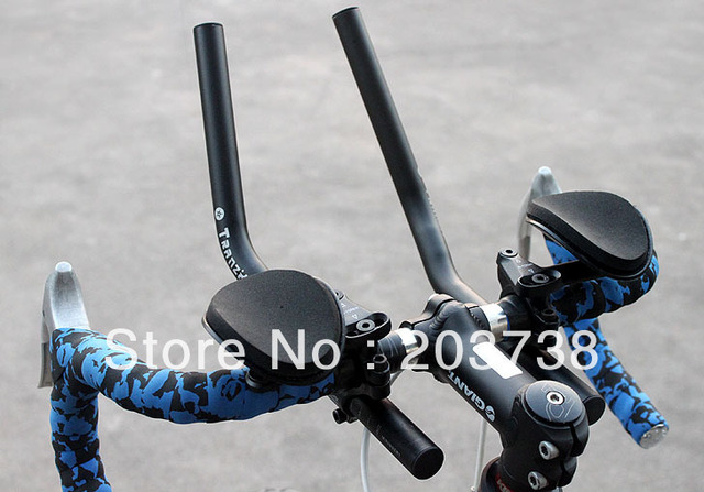 free shipping Road Mountain Bike Cycling Race Bicycle MTB Aluminum Alloy Triathlon Aero Handlebar Rest Handle Bar!barend