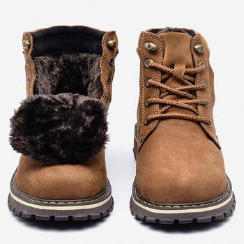 Full grain leather Men Winter Boots Size 38~50 Russian style Handmade Warm Plus Size Men Winter Shoes