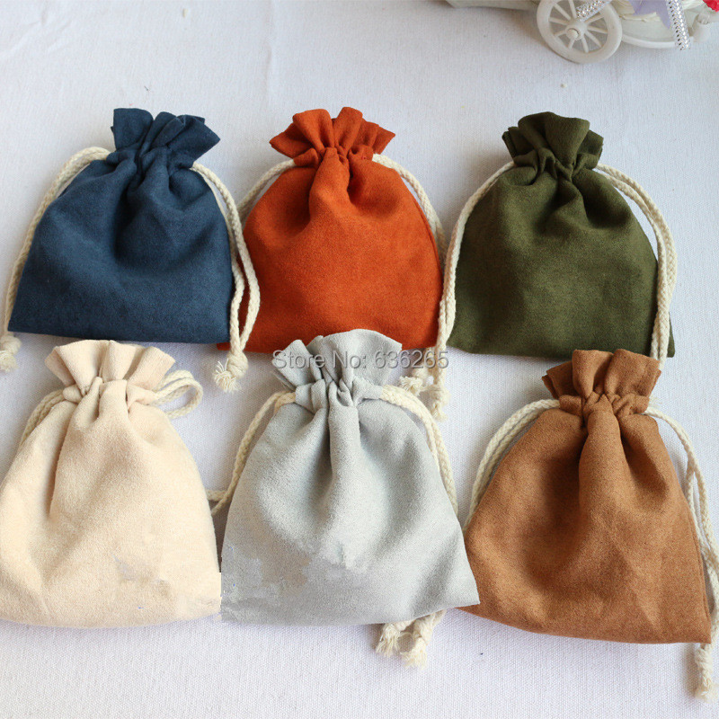15*20cm Jewelry display Pouches Suede towel toys bag disc beads wheel play bag velvet bag Rings necklace Earring Gif Bags Holder(China (Mainland))