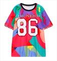 Harajuku 2016 Hipster Women T Shirt Funny Graphic 3D Print T shirts Short Sleeve Casual Punk