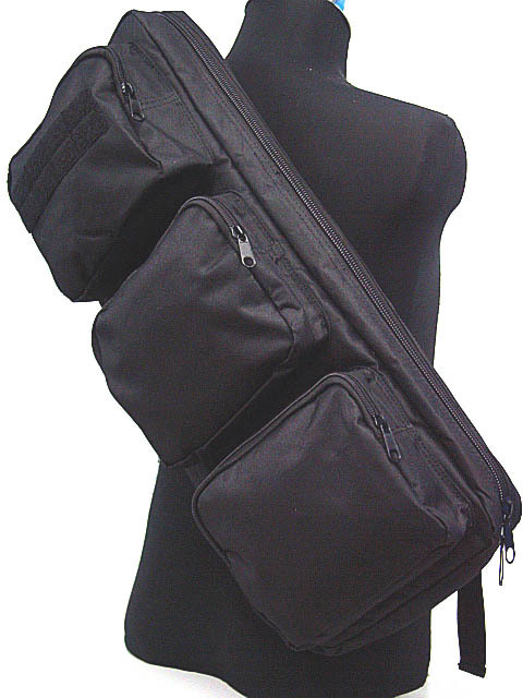 "Tactical 24"" Rifle Gear Shoulder Sling Bag Military Backpack MP5 Army Gun Bag Black Tan(China (Mainland))"