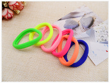 Buy 100pcs/lot Hair Band ponytail Holders Fluorescence Colored Rubber Bands Elastics Hair Accessories Girl Women Hair Ties Gum for $3.35 in AliExpress store