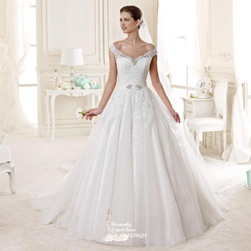 Wedding Dress Lace Italian : Style illusion lace back wedding dress hs italian bridal