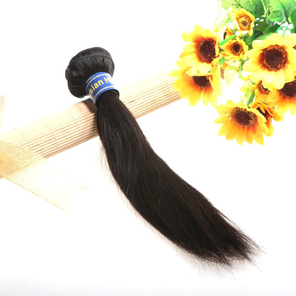 XCSUNNY malaysian virgin hair 6a straight 1pcs Natural Black Human Hair Extens Weav Rem for queen hair product(China (Mainland))
