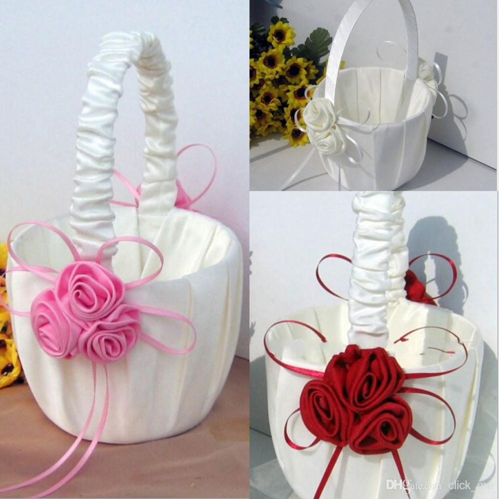 Flower Baskets Wedding : Flower girl baskets for wedding favors basket bridesmaid