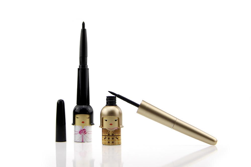 2015 New Waterproof Gel Cream Liquid EyeLiner Pen Black Eye Liner Brand Makeup Cosmetic Cute Good Luck Baby Eyeliner To Eye(China (Mainland))