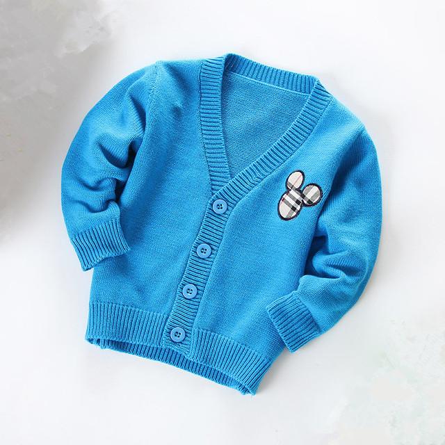 Весна и осень дети хлопок кардиган тонкий свитер комикс верхняя одежда дети мальчики-младенцы ...