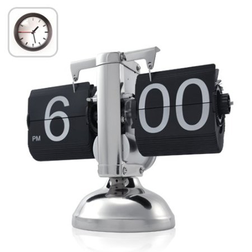 USA Delivery Black Retro Flip Down Clock-Internal Gear Operated Flip Home Clock USA Shipping(China (Mainland))