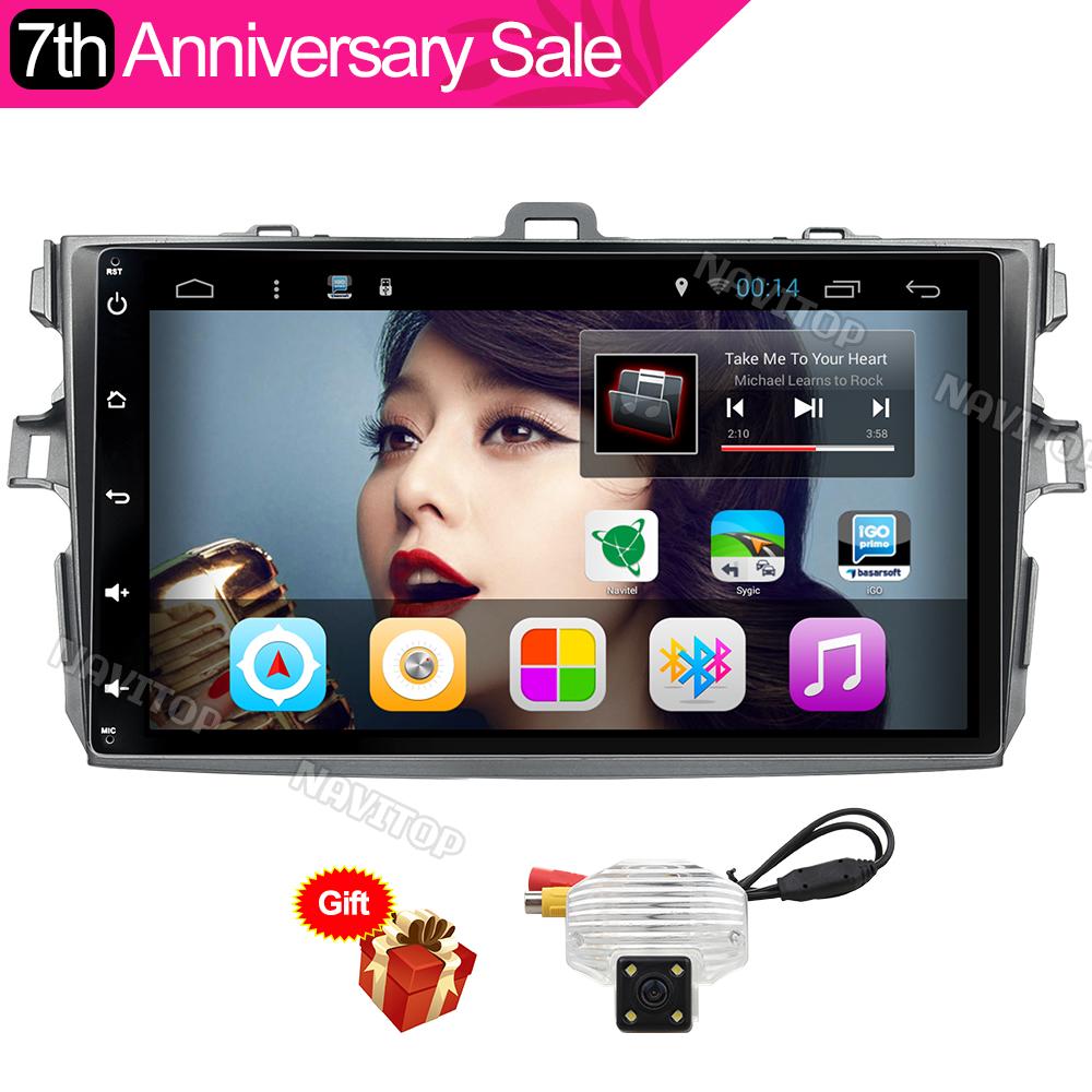 Navitop 2 din android 6.0 car dvd for toyota corolla toyota auris 2007 2008 2009 2010 2011 car radio gps(China (Mainland))