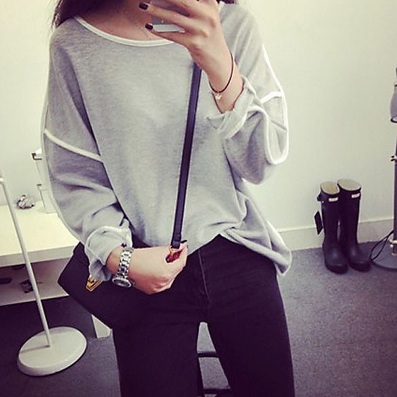 New Arrival Top Blouse Hot Sale Long T Shirt Women Loose Pullover Geometry Pullover Free Shipping(China (Mainland))