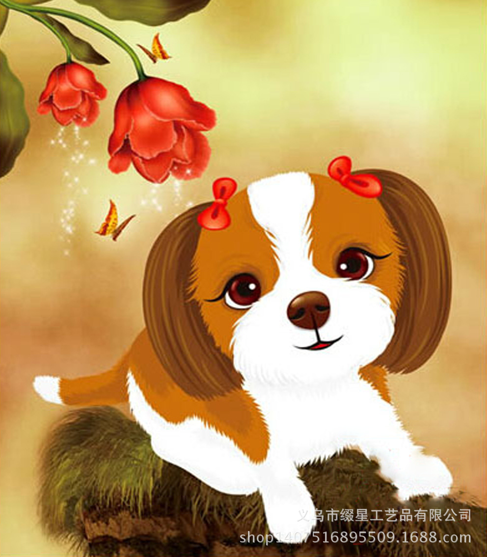 CAN2819 rose dog(China (Mainland))