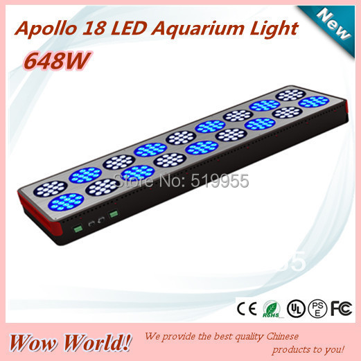 Apollo 18 216*3W LED aquarium light for saltwater reef, high power led aquarium panel light, CE ROHS PSE FCC certificated(China (Mainland))