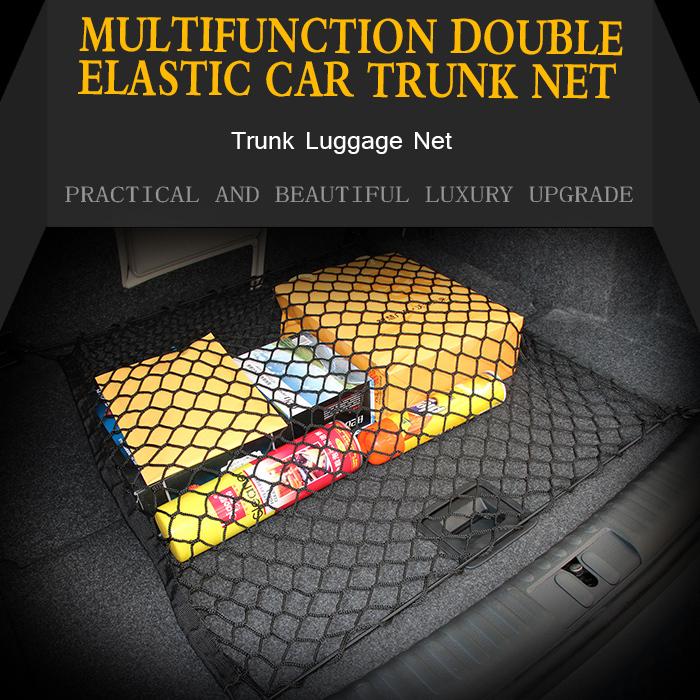 Car Mesh Cargo Car Elastic Trunk Storage 4 Hooks Net For Mitsubishi Lancer 2008 - 2015(China (Mainland))