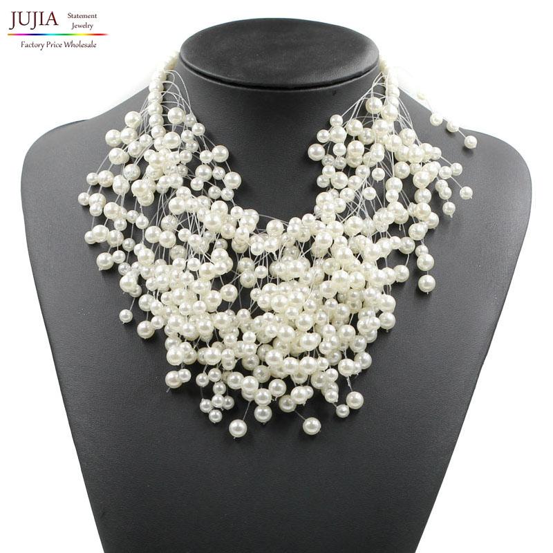 2016 New Z design simulated pearl necklace fashion luxury choker pendant - JUJIA Jewelry Store (Statement jewelry store)