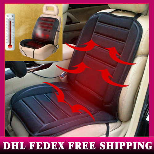 50pcs High Quality Car Heated Seat Cushion warmer Cover 12V Heat Heater Warmer Pad-winter winter car heating pads free DHL FEDEX(China (Mainland))