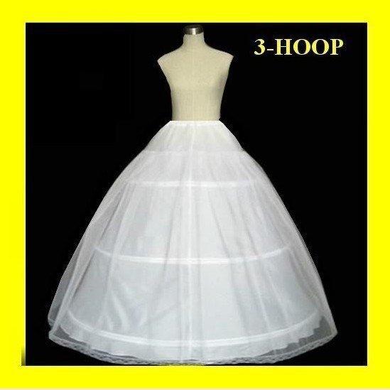 Горячая распродажа 50% от 3 хооп бальное платье кость полный кринолин свадьба юбка ...