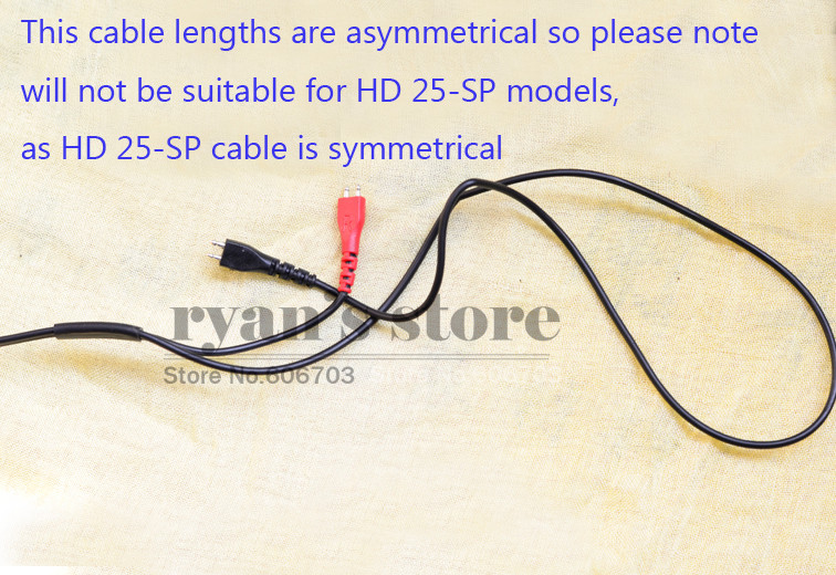 image for 2.5m Replacement Cable Cord Wire For Sennheiser HD25 HD25-1 HD25-1 II
