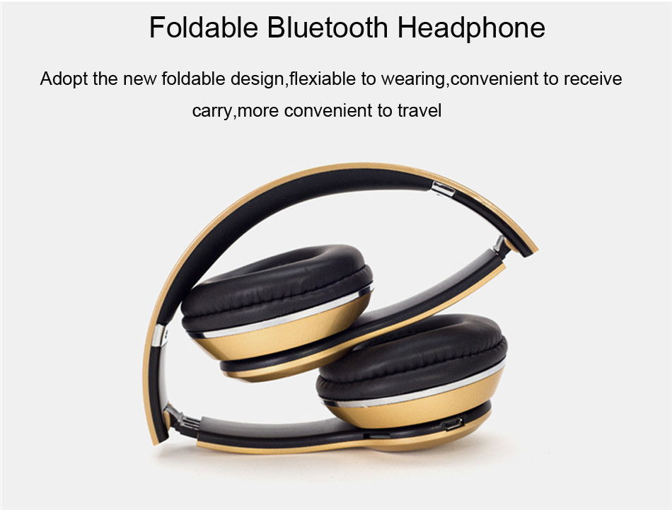 Casque Bluetooth  Wireless Headphone Music Audio Earphone Stereo Foldable Handsfree Headset TF Card With Microphone For Phone PC