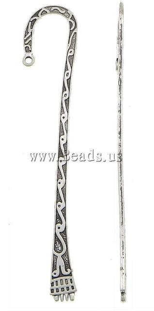 Free shipping!!!Zinc Alloy Bookmark,Jewelry Making, antique silver color plated, nickel, lead & cadmium free, 24x110x2mm