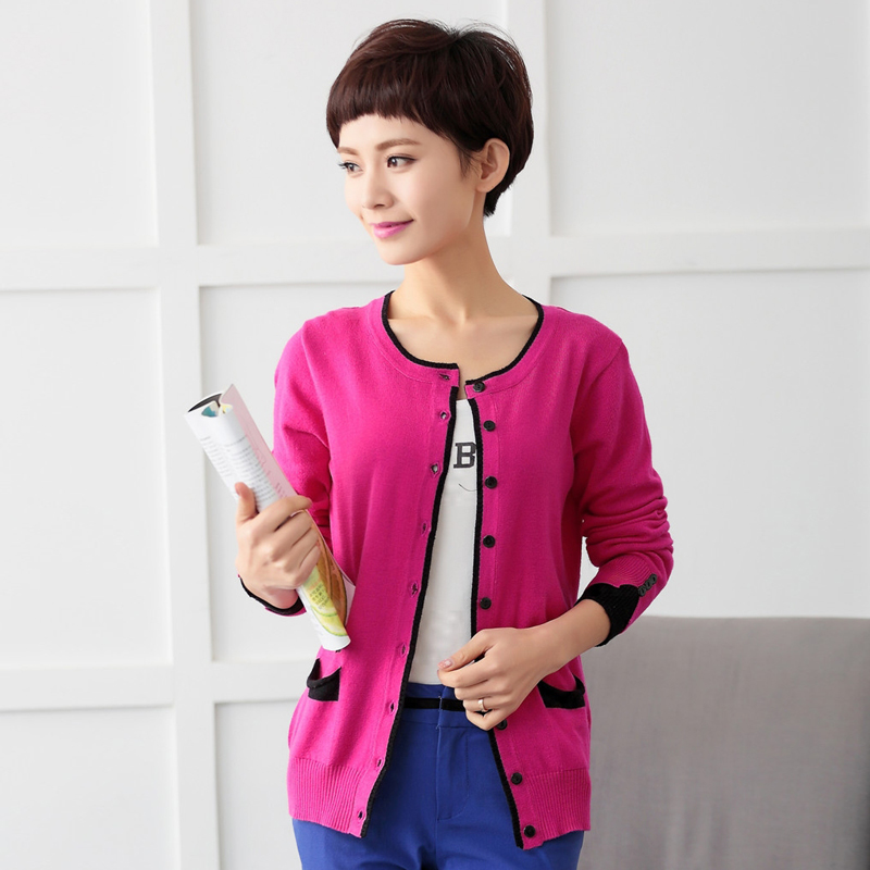 In The Spring Of 15 New Color - Cashmere Cardigan Sweater Thin Lady Sweater Small Coat Code(China (Mainland))