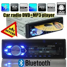 new car radio DVD VCD CD player built in bluetooth 12V audio DVD player car Radios stereo SD/USB/AUX IN 1 din in-dash handfree(China (Mainland))