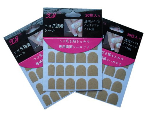 Hot Sale 1 pack Nail Art Double Side Adhesive sticker for False Nails Transparent Sticky Tape beauty women tools(China (Mainland))