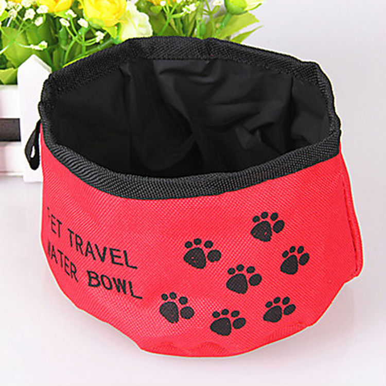 Pet Waterproof Oxford Cloth Bowl Folding Portable Travel Water - Happypet Store store