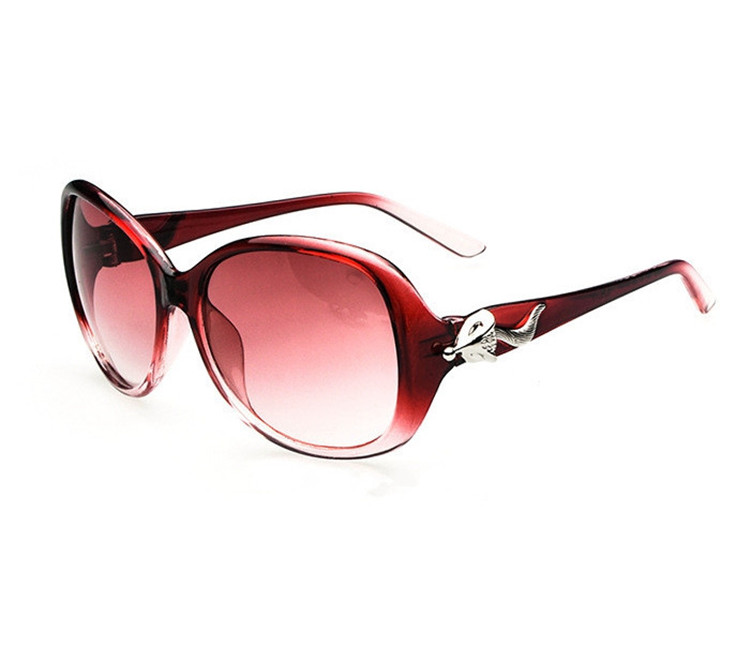 Hot Selling 2015 Elegant Fashion Fox Sunglasses Black Red Shades Glasses Cat Eye Women Case UV400 - Ydws store