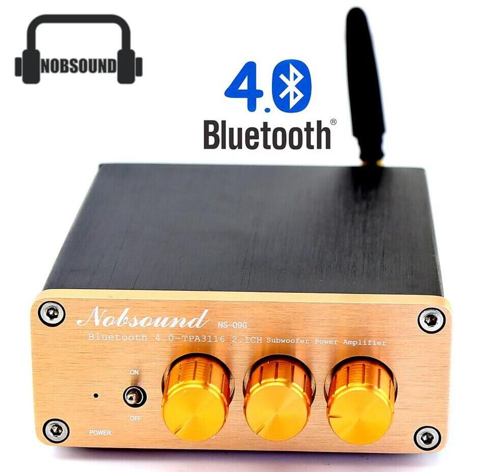 Music Hall Nobsound 2015 New Mini Bluetooth 4.0 amp Digital TPA3116 2.1 Channel Subwoofer HiFi Amplifier Free Shipping