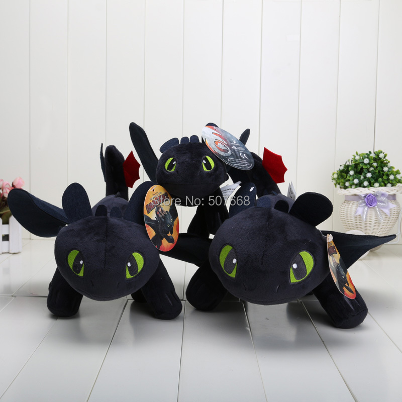 22cm 33cm 40cm How to train your dragon Toothless Stuffed Plush Toys Soft Dolls For Children(China (Mainland))