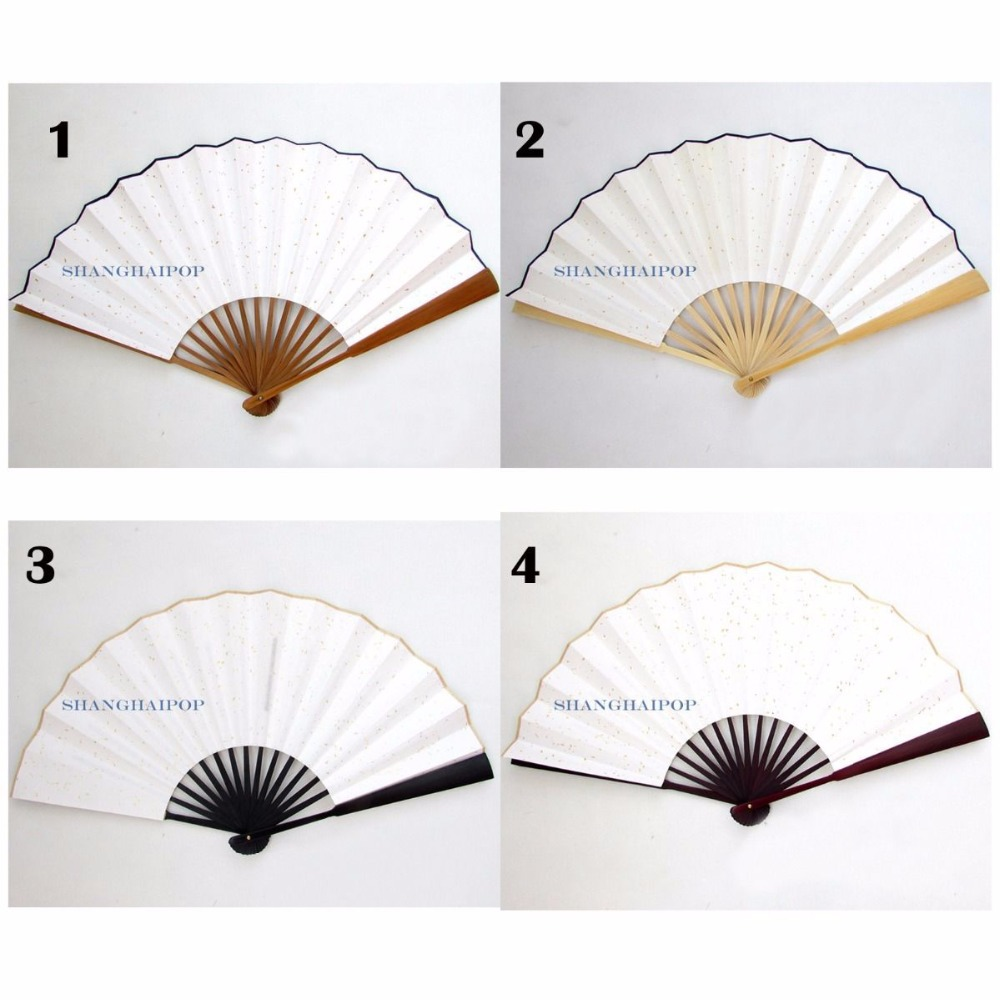1 X Xuan Paper Folding Hand Fan for Chinese Painting Calligraphy Gift White 33cm(China (Mainland))
