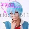Neon Genesis Evangelion Ayanami ReiIce Cos Anime Wig Cosplay Costume Party Wigs Blue Short Hair 35CM + Free Wig Cap