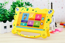 "7 inch 7"" Dual core Kids tablet pc A23 512M8G 4.4 Android tablet Children Wifi handle tablets for Kids Education&Games pad(China (Mainland))"
