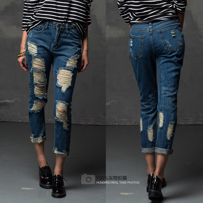 Ripped Womens Jeans Promotion-Shop for Promotional Ripped Womens ...