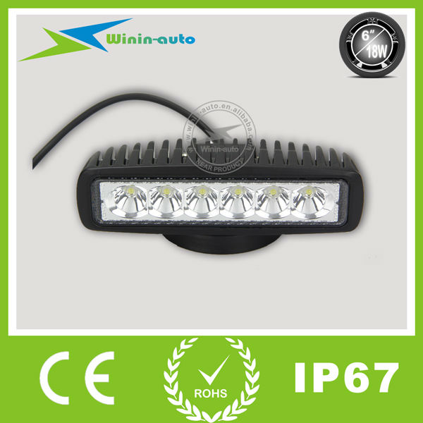 2pcs Free Shipping 18W 6 Inch Led Work Light Bar 12V Off road Mini Led Light Bar Working Light 18W WI6181(China (Mainland))