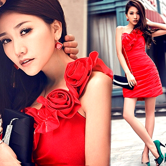 s 2016 new arrival stock maternity plus size bridal gown evening dress short slim sheath red Red Cheongsam 1968(China (Mainland))