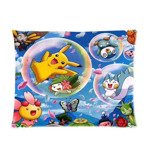 Customized Popular Anime Pokemon Soft Pillow Cover 20x26 (one side)(China (Mainland))
